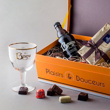 Beers Brogne and chocolates - Plaisirs et Douceurs - packshot shoot